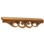 Ручка-скоба 192-160мм, отделка бронза античная французская 9.1354.192160.25