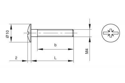 404A00434MZ Винт М4х34.5мм, отделка цинк (за 100 шт.)