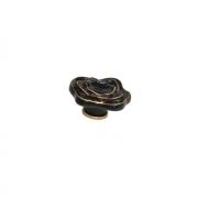 Ручка-кнопка, отделка керамика черная + золото P56.07.M9.06