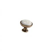 Ручка-кнопка, отделка бронза + керамика CH0193.AB