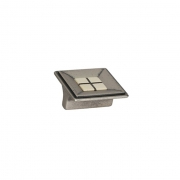 Ручка-кнопка 32мм, отделка старое железо + вставка 10.813.B55-105
