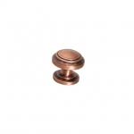 Ручка-кнопка d.25мм, отделка медь L1305