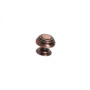 Ручка-кнопка d.22мм, отделка медь L1306