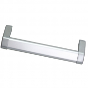 Ручка-скоба 128мм, отделка хром + алюминий 282