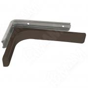 KBR120BROWN CORNER Менсолодержатель для деревянных полок с декоративной накладкой L-120 мм, коричневый (2 шт.)