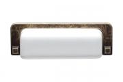 1201-96-3660 Ручка-ракушка 96мм, отделка бронза + керамика
