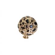 Ручка-кнопка, отделка золото + горный хрусталь MOB.605/O/JET