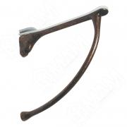 MS.1221.BA Менсолодержатель для деревянных и стеклянных полок 6 - 20 мм, L-149 мм, бронза патинированная (2 шт.)