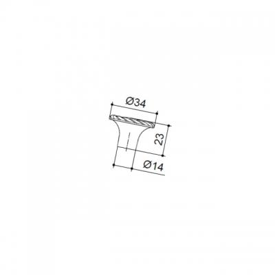Ручка-кнопка, отделка бронза античная 8581/831