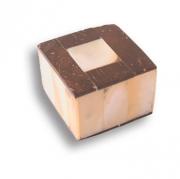 123B1 Ручка кнопка, натуральный перламутр со вставками из кокосовой древесины