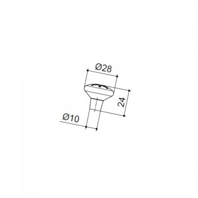 Ручка-кнопка, отделка бронза античная 8842/831