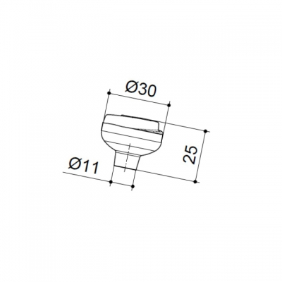Ручка-кнопка, отделка медь античная 8871/808