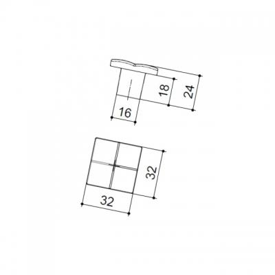 Ручка-кнопка, отделка хром глянец 8142/400