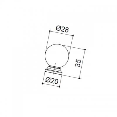 Ручка-кнопка, отделка чёрный глянец 5202/033