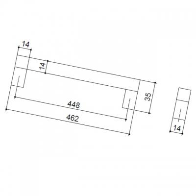 Ручка-скоба 448мм, отделка алюминий анодированный 7020/018