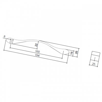 Ручка-скоба 160мм, отделка хром глянец 8.1066.0160.40