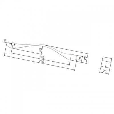 Ручка-скоба 192мм, отделка хром глянец 8.1066.0192.40