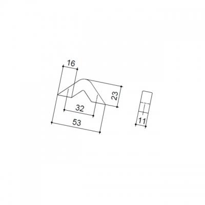 Ручка-скоба   32мм, отделка хром глянец F103/A-CR