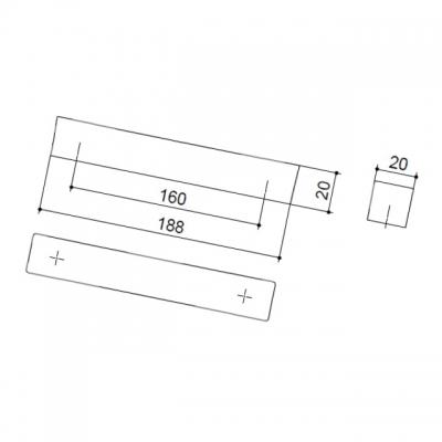 Ручка-скоба 160мм, отделка хром глянец F114/F-CR