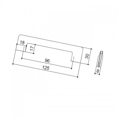 Ручка-скоба 96мм, отделка никель шлифованный 7532/038