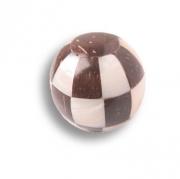 125A1 Ручка кнопка, натуральный перламутр со вставками кокоса