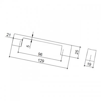 Ручка-скоба 96мм, отделка хром глянец 7463/400