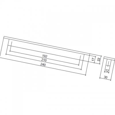 Ручка-скоба 192мм, отделка венге 9391/046