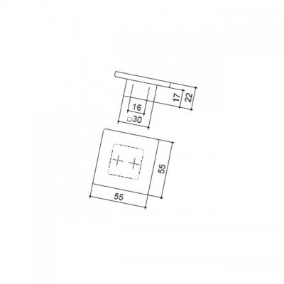 Ручка-кнопка 16мм, отделка венге 9390/046