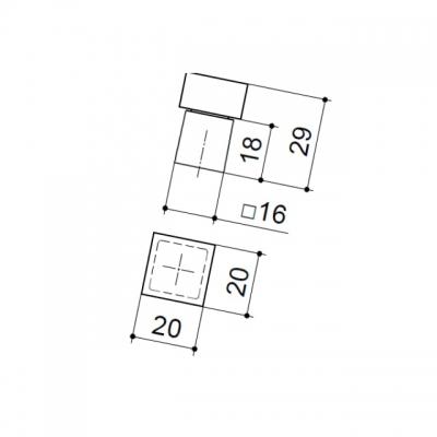 Ручка-кнопка, отделка бук + хром матовый 9090/815