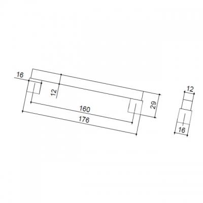 Ручка-скоба 160мм, отделка бук + хром матовый 9382/815