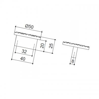 Ручка-скоба 32мм, отделка хром глянец 8.1038.0032.40