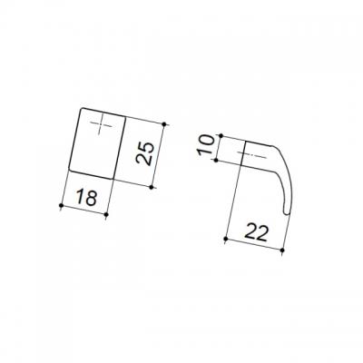 Ручка-кнопка, отделка никель матовый 8.990.B000.30