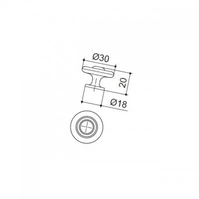 Ручка-кнопка, отделка бронза матовая 10.746.B28