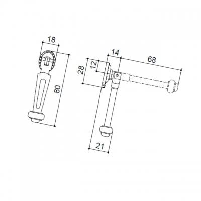Ручка-серьга, отделка бронза матовая 5.354.B28