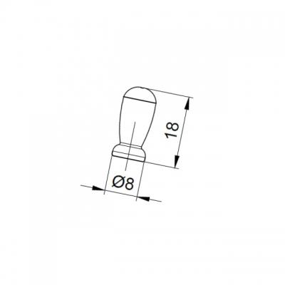 Ручка-кнопка, отделка серебро античное 10.792.B17N