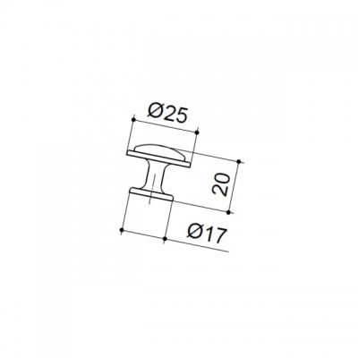 Ручка-кнопка, отделка хром глянец 10.734.C40