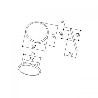 Ручка-кнопка 32мм, отделка лайм + вставка 10.823.B0437-110