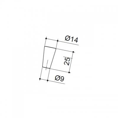 Ручка-кнопка, отделка хром матовый лакированный 10.761.B42