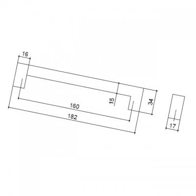 Ручка-скоба 160мм, отделка хром глянец 8.991.0160.40