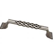 Ручка-скоба 128мм, отделка серебро старое (2 винта М4х22 + 2 винта М4х25) 15146Z12800.25T