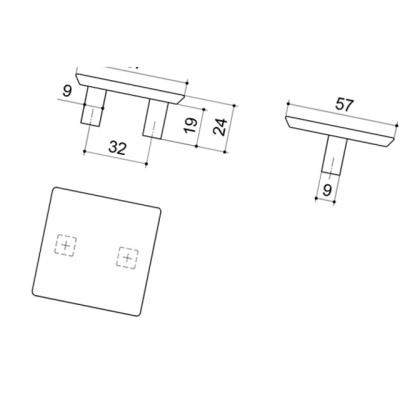 Ручка-скоба 32мм, отделка цемент 8.1045.0032.0213