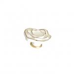 Ручка-кнопка, отделка керамика слоновая кость + золото P59.01.M9.06
