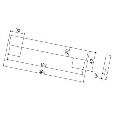 Ручка-скоба 192мм, отделка хром матовый лакированный + венге 8.1073.0192.42-1894