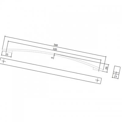 Ручка-скоба 320мм, отделка хром матовый 8.1075.0320.45