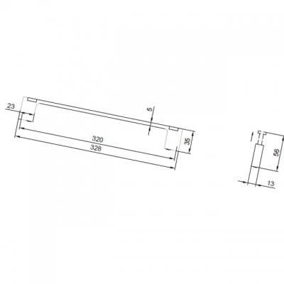 Ручка-скоба 320мм с крючками, отделка хром глянец 8.1118.0320.40