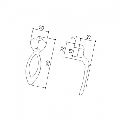Ручка-кнопка 16мм, отделка бронза античная красная + вставка 9.1351.0016.25-113