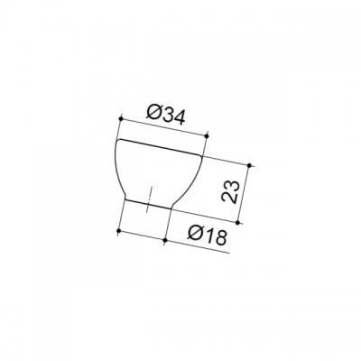 Ручка-кнопка, отделка транспарент матовый + синий 10.816.B94-0473