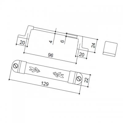 Ручка-скоба 96мм, отделка бронза MZ.322