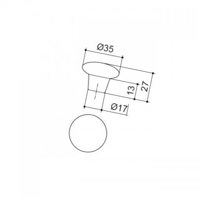Ручка-кнопка керамическая 408C6