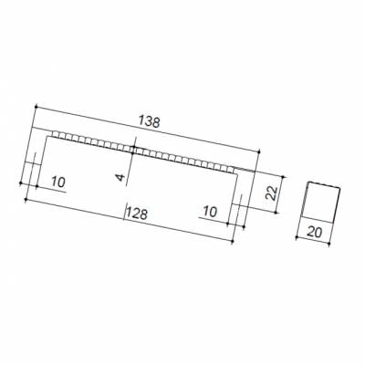 Ручка-скоба 128мм, отделка бронза 4979.42